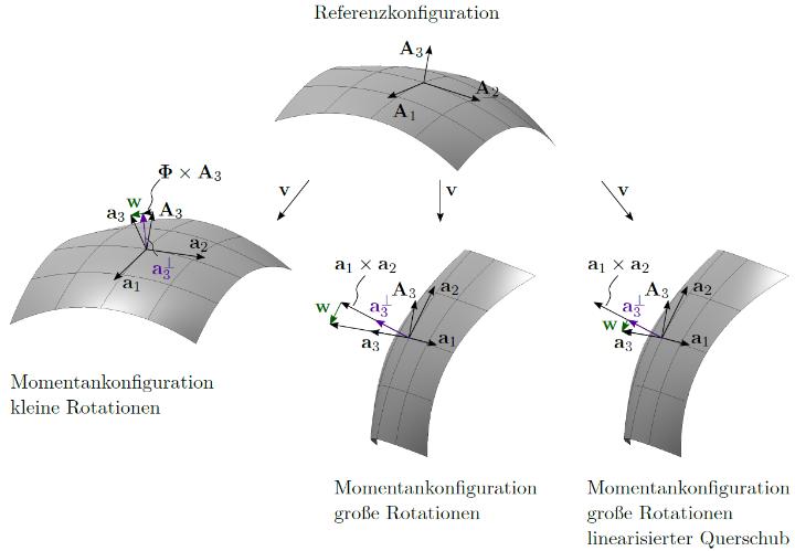 schubweiche Schalenformulierung mit hierarchischen Rotationen (c)